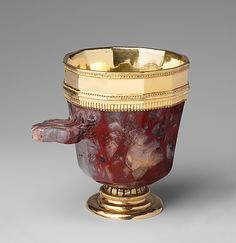 Jasper Cup with Gilded-Silver Mounts. Date: third quarter 14th century. Geography: Made in Prague. Culture: Bohemian.