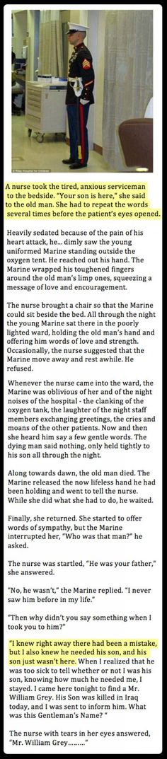 Awwwwwww :( I love reading things like this it makes me realize that there really are good people in the world. Faith in humanity restored yet again! Touching Stories, Sad Stories, Sweet Stories, Beautiful Stories, Military Love Quotes, Military Memes, I Look To You, Quote Prints, Good People
