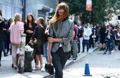 Street Style - grey blazer - monstylepin #streetstyle #fashion #outfit #trend #blazer #chanel
