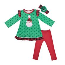 Christmas Day Baby Ruffle Pants Kids Embroidery Santa Claus With Headband Kids Boys, Baby Kids, Family Christmas Outfits, Sibling Shirts, Suit Pattern, Ruffle Pants, Kids Boutique, Kids Pants, Shirt Outfit
