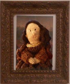 A knitted Mona Lisa, via Anna's Knitting Blog