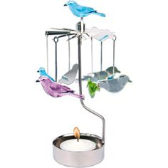 Rotary Tealight Holder - Birds available from Utility Design. Romantic Evening, Im Crazy, Tea Light Holder, Tea Lights, Candle Holders, Rotary, Candles, Antiques, Holiday