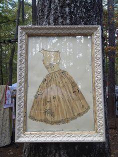 vintage Vogue patterns made into art