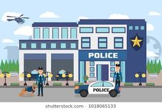 pictures of police station Pictures Of Police, Easy Art For Kids, Minecraft House Designs, Shrink Art, Math Projects, News Apps, Police Station, Landscape Illustration, Facades