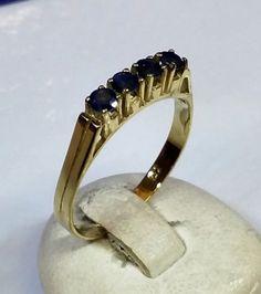 Schlichter goldring  Schlichter Goldring 585 Damenring Ring 19,5 GR128   Schlicht ...