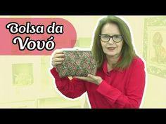 Como fazer a bolsa fecho da vovó em patchwork   Gislaine Bortolato - YouTube