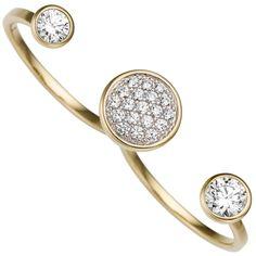 NEU Damen 2-finger Ring offen 333er echt Gold Gelbgold 8 Karat Glitzersteine 56 Open Ring, Girls Best Friend, Druzy Ring, Diamonds, Ebay, Jewellery, Friends, Yellow, Ring