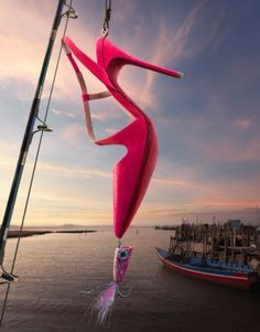 fishing theme Christian Louboutin spring and summer advertising