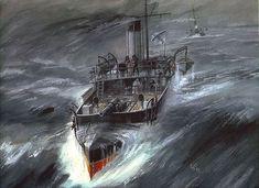 "Cannon boat ""Ruff"" by Artist Vladimir Emyshev"