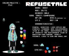 REFUSETale: Dust Reference Sheet by NatsuneNuko