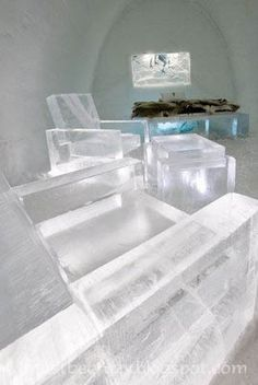Damn Cool Pictures: Ice Hotel in Sweden Snow And Ice, Fire And Ice, Ice Hotel Quebec, Ice Hotel Sweden, Bed Wrap, Unusual Hotels, Ice Bars, Ice Houses, Design Suites
