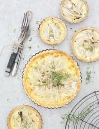 Fennel and coconut tart recipe from The Green Kitchen by David Frenkiel Cooking With Coconut Milk, Coconut Tart, Gluten Free Crust, Tacos, Daiquiri, Tart Recipes, Food 52, Fresh Vegetables, Tasty Dishes