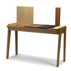 Schreibtischplatte holz  Schreibtisch aus massivem Holz mit Schubladen ORIGAMI ...