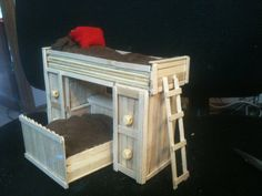 popsicle stick bunk bed by CRAFTYLADY962 on Etsy, $15.00