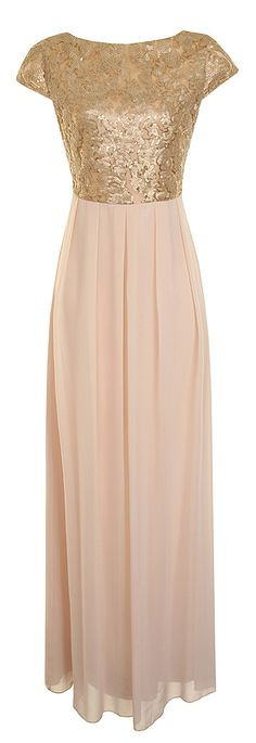 Gold & Blush Maxi Dress
