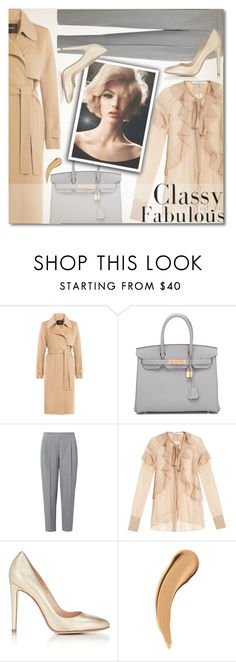 """""""Classy and Fabulous"""" by anilovic ❤ liked on Polyvore featuring Theory, Hermès, Givenchy and Gianvito Rossi"""