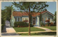 Home of Myrna Loy   Beverly Hills, CA  cardcow.com