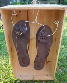 Flip flop shoe hangers