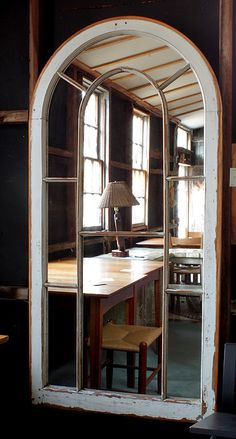 West Barnstable Tables   Antique Window Mirror