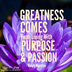 Join our FREE 30 Day Challenge - Living with Passion & on Purpose!  When we Live with Passion & on Purpose, we create meaning in our lives. Meaning gives us the motivation to get more done and to show up purposefully every day.