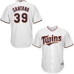 Daniel Santana Minnesota Twins Majestic Cool Base Player Jersey - White