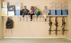 How to hang a bike from the ceiling pinterest organizations do it yourself garage storage shelving gallery several good ideas to help you making the right diy garage shelves solutioingenieria Gallery