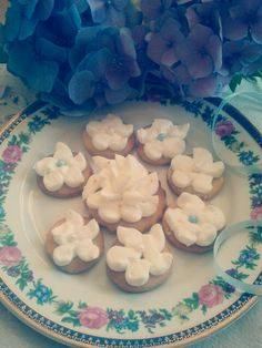 delicate cookies with vanilla icing on the top - yummy!!:)