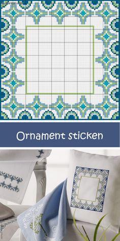 Kissen mit stilvollem Muster sticken #Sticken / #Kreuzstich / #Embroidery / #Crossstitch / #ZWEIGART