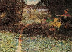 """""""Sob a Folhagem"""".  (c. 1913). (by Eliseu Visconti)."""