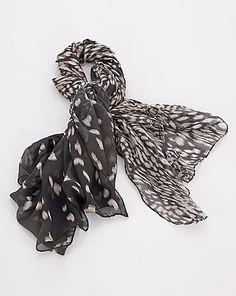 Helene Berman Graded Print Silk Scarf