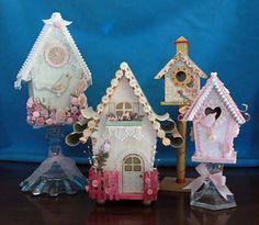 Lovely altered bird houses