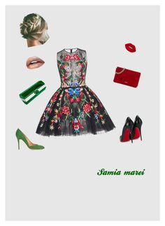 """""""Sweet date"""" by toutsy on Polyvore featuring Zuhair Murad, Christian Louboutin, Miu Miu, ALEXA WAGNER and Yazi"""