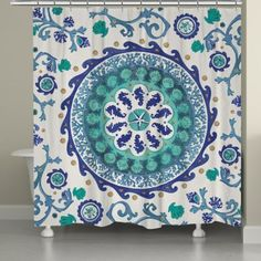 Laural Home® Coastal Medallion Shower Curtain - www.BedBathandBeyond.com