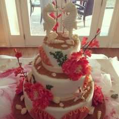 Another angle of the sea shell cake