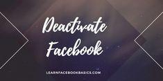 How to Deactivate Facebook Messenger App | Deactivate My FB App - Messenger