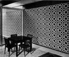 Decorative concrete screen block.