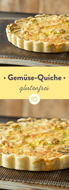 Gluten-free vegetable Glutenfreie Gemüse-Quiche With this gluten-free shortcrust pastry, tartes, quiches and cookies will finally come back to your table even if they are incompatible. Gluten Free Pizza, Vegan Pizza, Gluten Free Recipes, Vegan Breakfast Recipes, Vegan Snacks, Pizza Recipes, Veggie Recipes, Flax Seed Benefits, Dessert Oreo