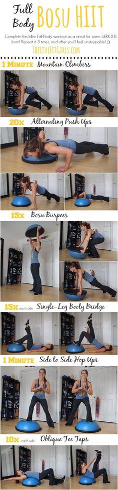Full Body Bosu HIIT Workout. #homeworkout #fitness