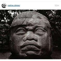 """From @native.olmec : """"I'll defend my ancestors till the end! I don't care what any fake culture vulture pseudo-historian with absolutely no credentials or evidence has to say. Not #African, Not #Moor, Not #Israelite, Not #Aliens! enough is enough with that nonsense!"""" #aboriginal #native #indigenous #olmec #cemanahuac #anawak #anahuac  Indigenous people constantly have their history and accomplishments erased."""