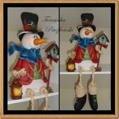 Teresinha Paczkowski: biscuit country Christmas Pasta, Christmas Clay, Christmas 2017, Xmas, Christmas Ornaments, Christmas Ideas, Clay Figures, Snowman Crafts, Sugar Art