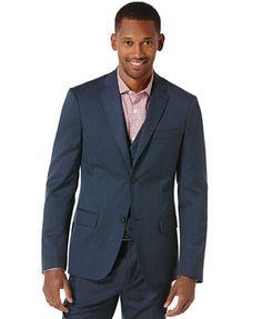 Perry Ellis Slim Fit Textured Blazer