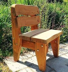 Celtic Forest: Carmarthen Chair Wooden Single Seat Chair - fire pits and grills - Garden Chair Woodworking Bench Plans, Unique Woodworking, Woodworking Projects Diy, Woodworking Furniture, Diy Wood Projects, Green Woodworking, Japanese Woodworking, Router Woodworking, Woodworking Magazine