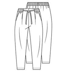 Patroon elastiek broek (PDF-patroon) | Dames | Knipmode naaipatronen