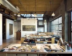 Tom Kundig of Olson Kundig Architects | studio for artist Catherine Eaton Skinner, Seattle (photo by Tim Bies)