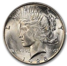 Peace Dollar in a PC holder and CAC Approved. Peace Dollar, Rare Coins, Half Dollar, Silver Bars, Larry, Auction, Coins