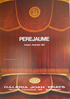 Perjaume - Original Artist Poster 1987 – Art Vintage Store Ltd Vintage Store, Art Vintage, Vintage Prints, Vintage Posters, Museum Poster, Creative Poster Design, Graphic Artwork, Poster Design Inspiration, Exhibition Poster