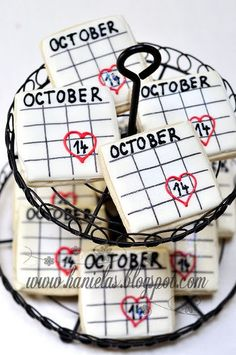 Bridal Shower Calendar Cookies