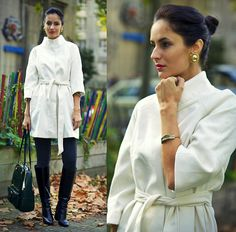 Chic Wish Wrap Coat, Chic Wish Feather Cuff, Very Simple Bag