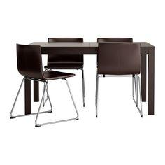 BJURSTA/BERNHARD Tisch und 4 Stühle IKEA