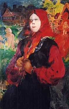 RUSSIAN BEAUTY Filipp Andreevich Malyavin (1869~1940) | Impressionism, Expressionism, Art Nouveau